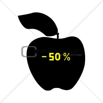Black discount apple fifty percent.