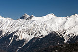 Ski resort Rosa Khutor. Mountains of Krasnaya Polyana. Sochi, Russia