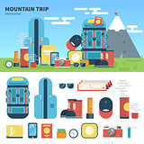 Equipment for mountain trip