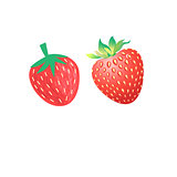 Vibrant vector delicious strawberries