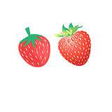 Vibrant vector delicious strawberries