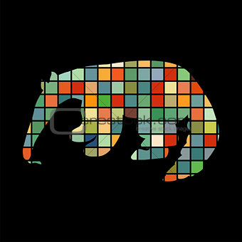 Anteater mammal color silhouette animal