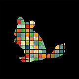 Chinchilla pet rodent color silhouette animal