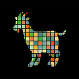 Goat farm mammal color silhouette animal