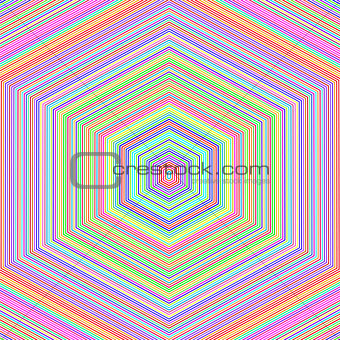 Abstract Colorful Hexagonal Background
