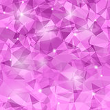 Abstract Pink Polygonal Background.