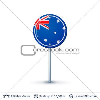 Australia flag isolated on white.