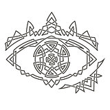 Simple Celtic pattern in the shape of the eye