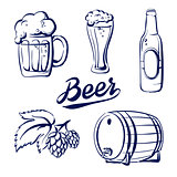 icon set beer