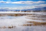 Lake in sol de manana geothermal field, sud Lipez reserva, Boliv
