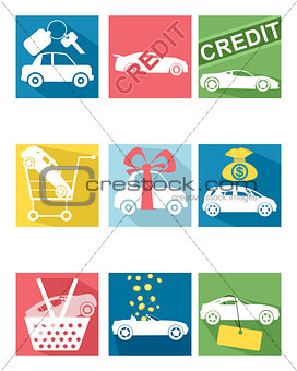 Car selling icons