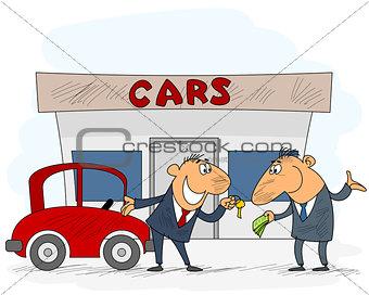 Car selling scene