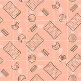 Biscuit pink seamless vector pattern.
