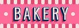 Bakery banner typographic design.
