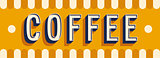 Coffee banner typographic design.