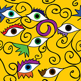 Seamless abstract eye pattern ;