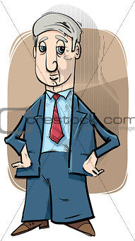 businessman caricature drawing