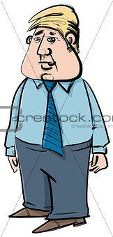 businessman caricature sketch