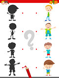 shadow activity with kids