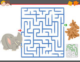 maze leisure game with elephant
