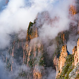 Colorful peaks of Huangshan National park.