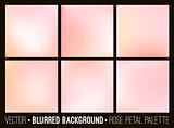 Pink abstract blurred background set.