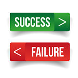 Success Failure sign button