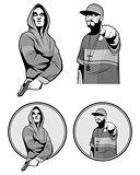 Two gangster rapper