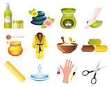 Beauty and Spa Relax Icons