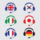 Conversation icons set