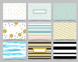 Set of Flyer, Brochure Design Templates . Abstract Modern Backgrounds.