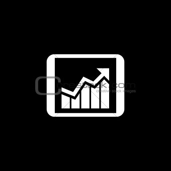 Business Progress Icon. Flat Design.