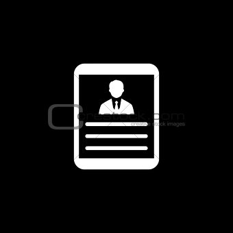 Business Profile. Flat Design.