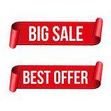 Big Sale ribbon sign