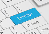 The word Doctor written on the keyboard