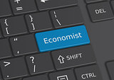 The word Economist written on the keyboard
