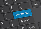 The word Electrician written on the keyboard