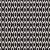 Black and White Abstract Background Seamless Pattern. Vector Ill