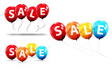 Sale Balloon Concept of Discount. Special Offer Template .Vector