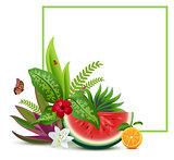 Floral Vegetable template greeting card frame