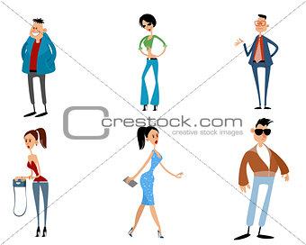 Six modern teenagers