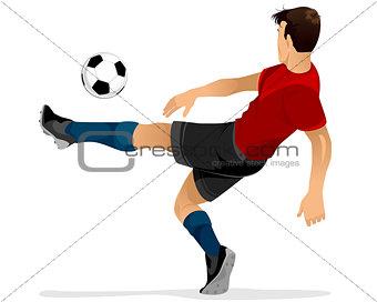 Football player kicks off