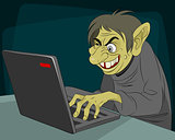 Ugly internet troll
