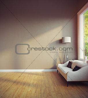modern room interior