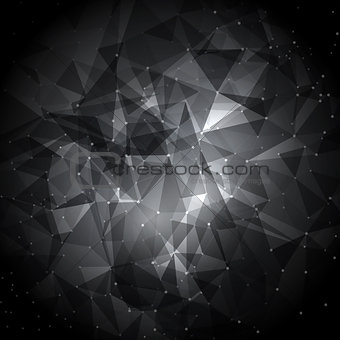 Abstract low poly background with connecting dots