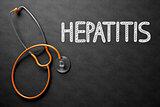 Hepatitis Concept on Chalkboard. 3D Illustration.