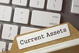 Card Index Current Assets. 3d.