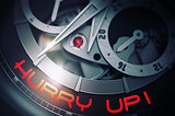 Hurry Up on Luxury Wristwatch Mechanism. 3D.