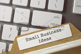 Folder Register with Inscription Small Business Ideas. 3d.