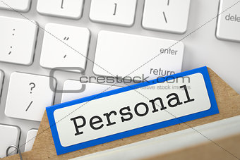 Folder Register with Personal. 3d.